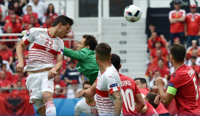 матч Албания - Швейцария Евро-2016