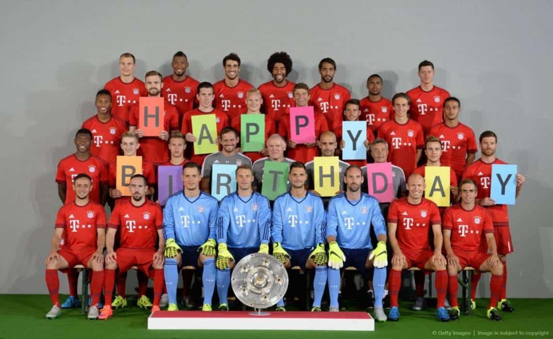 Бавария поздравляет с днем рождения