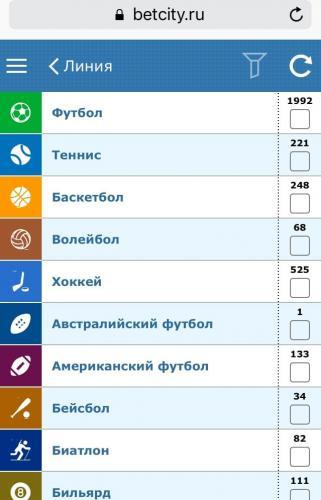 БетСити.ru мобильная версия