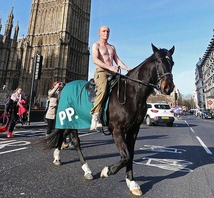 Ирландский букмекер использовал образ Путина в рекламе конных соревнований