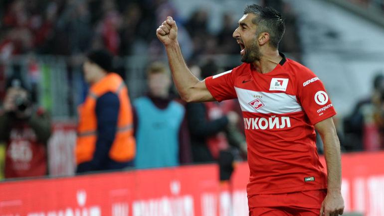 Самедов забил первый мяч после возвращения в Спартак