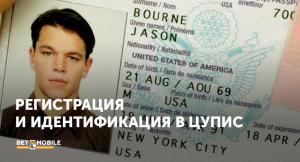 Регистрация и идентификация в ЦУПИС
