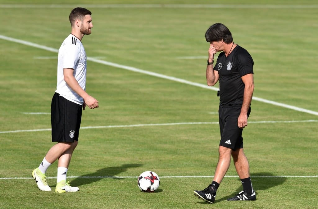 Тренировка сборной Германии