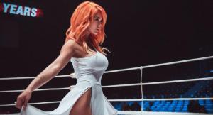 Российская ринг-герл Мария Цкирия