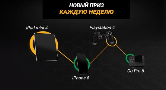 «Пари-Матч» разыгрывает iPhone, Go Pro и Playstation