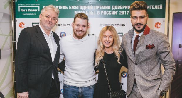 Бренд-амбассадоры Лиги Ставок Левин, Савин, Орзул и Нагучев