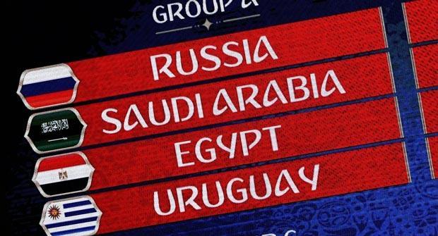 Жеребьевка ЧМ-2018. Россия сыграет с Уругваем, Египтом и Саудовской Аравией