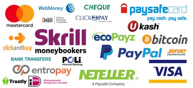 методы платежей в БК