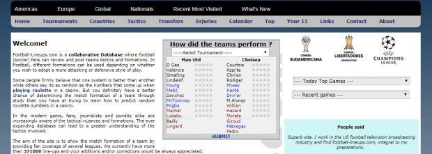 football lineups com