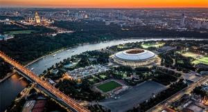 Стадионы «Лужники» и «Открытие Арена» в Москве