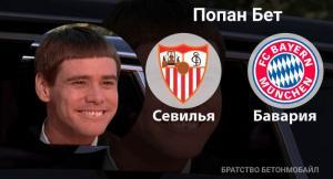 Прогноз и ставка на игру «Севилья» — «Бавария»