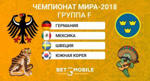 Превью Группы F (Германия, Швеция, Мексика, Корея) ЧМ-2018