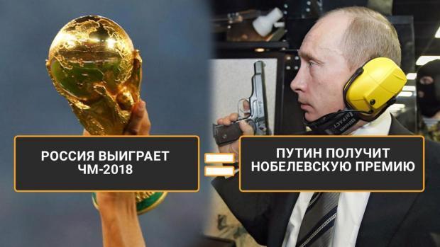 Скорее Путин получит Нобелевскую премию, чем Россия станет чемпионом мира