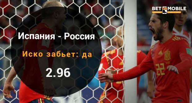 Испания - Россия прогноз и ставка