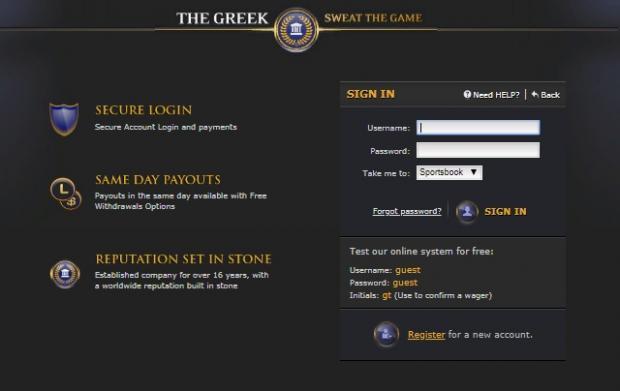 the greek регистрация