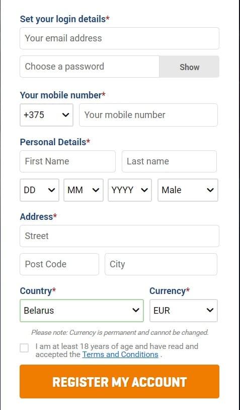 Nordicbet регистрация