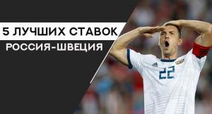5 выгодных ставок на матч Россия — Швеция