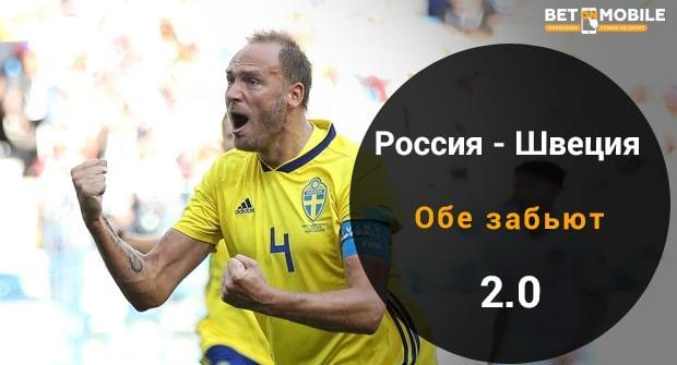 ставка на матч Россия – Швеция