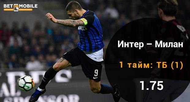 Интер - Милан прогноз и ставка