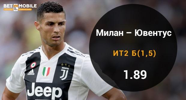 Прогноз и ставка Милан – Ювентус