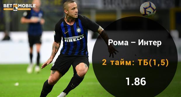 Рома - Интер прогноз и ставка