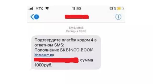 Пополнить счет мобильные операторы Бинго Бум