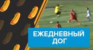 Ежедневный дог вратарь прячется от мяча в Лиге Европы видео
