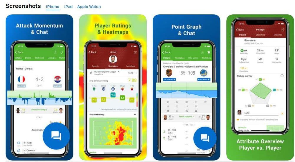 Sofascore мобильные приложения