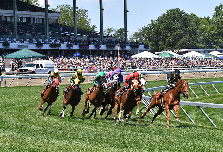 Monmouth Park in Oceanport, New Jersey. Photo By Bill Denver/EQUI-PHOTO