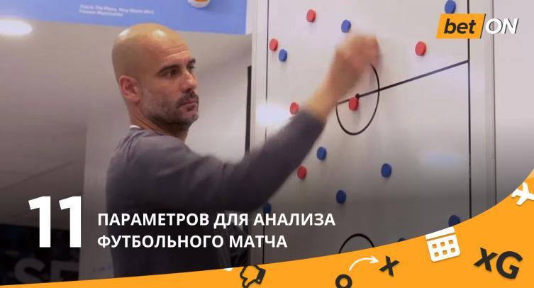 ⚽11 параметров для анализа футбольного матча (инфографика)
