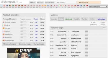Soccerstats: прогнозы и статистика