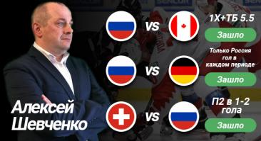 Хоккейный эксперт Алексей Шевченко дал 3 прогноза на МЧМ, и все зашли. ROI — 188%