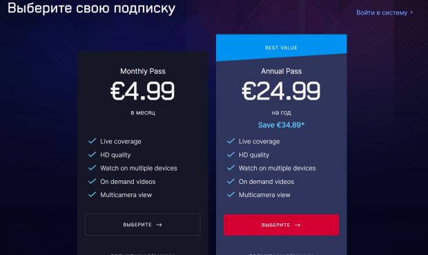 Евроспорт цены на подписку