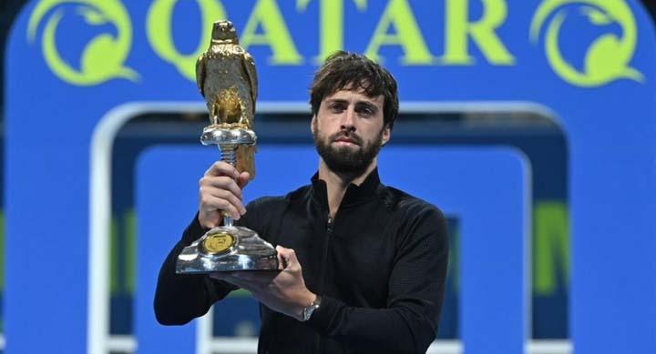 Басилашвили выиграл турнир в Дохе, хотя в 4 матчах из 5 был букмекерским аутсайдером