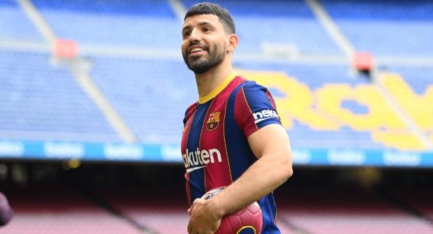На то, что Агуэро забьет за «Барселону» в Примере больше 13 голов — коэффициент 1,85
