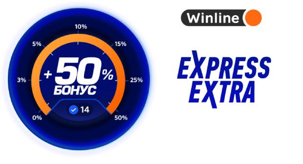 Букмекер дает бонусы до 50% за количество матчей в экспрессе